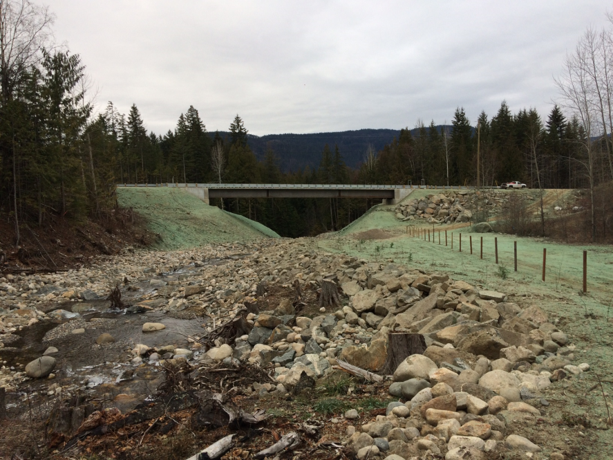 hydroseeding bridge