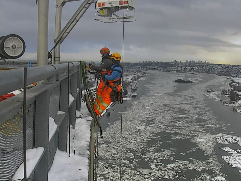 Rope Access Technicians on Port Mann Bridge
