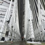 Rope Access Technician on Port Mann Bridge