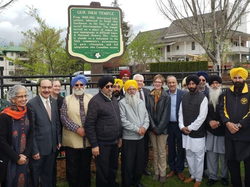 Khalsa Diwan Society, Gur Sikh Temple and Heritage Museum, Abbotsford BC, BC Stop of Interest Sign