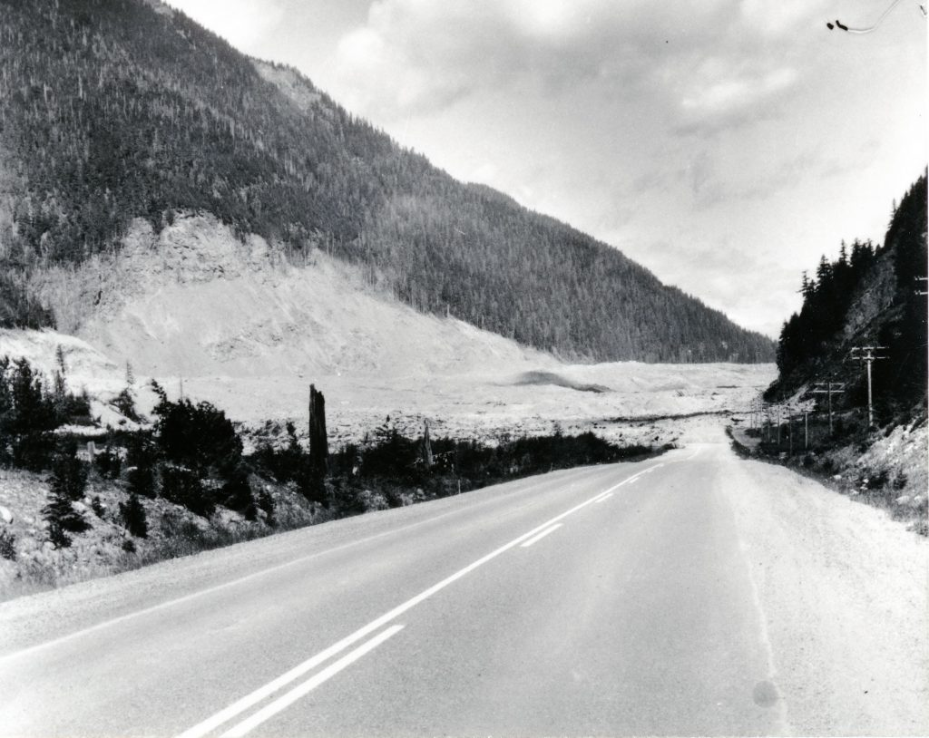 The slide destroyed nearly three kilometres of Highway 3, the Hope-Princeton Highway, a vital connection between the Southern Interior and the South Coast regions of BC.