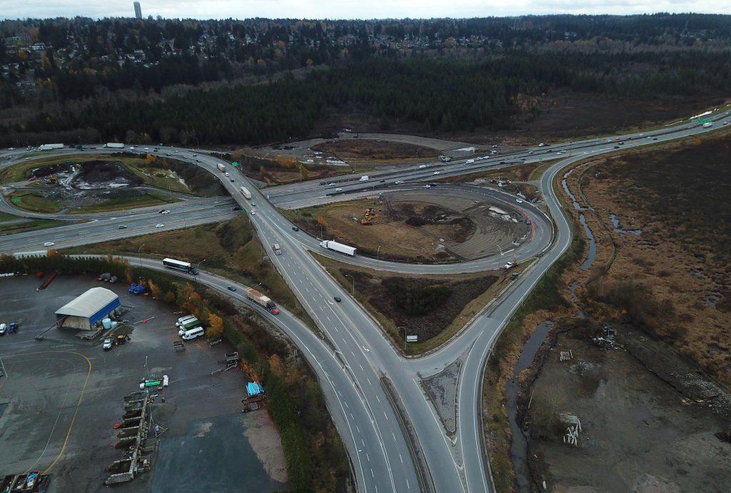 Aerial of Highway 91