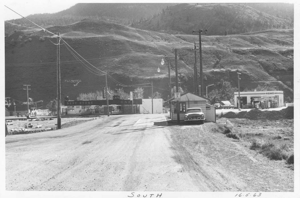Cache Creek Weigh Scale Station as it was in 1963