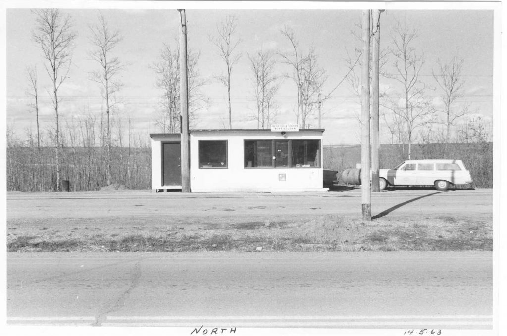Fort St. John Weigh Scale Station as it was in 1963