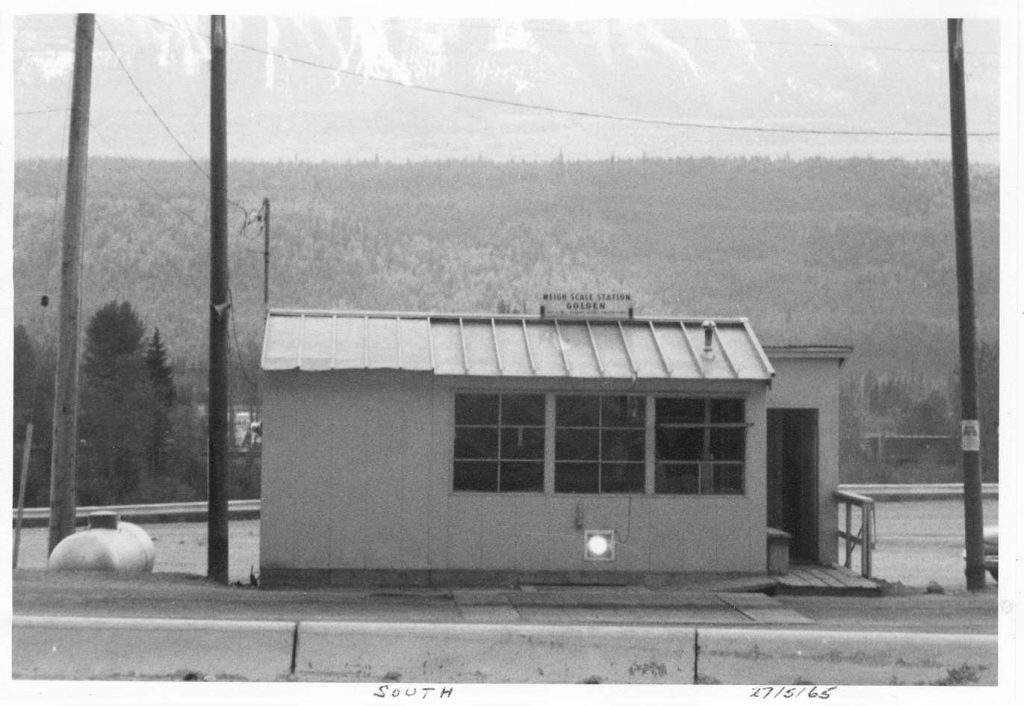 Golden Weigh Scale Station as it was in 1965
