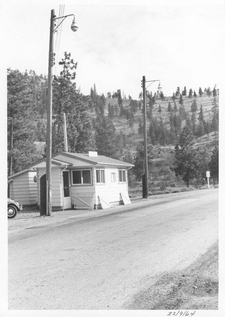 Kaleden Weigh Scale Station as it was in 1964