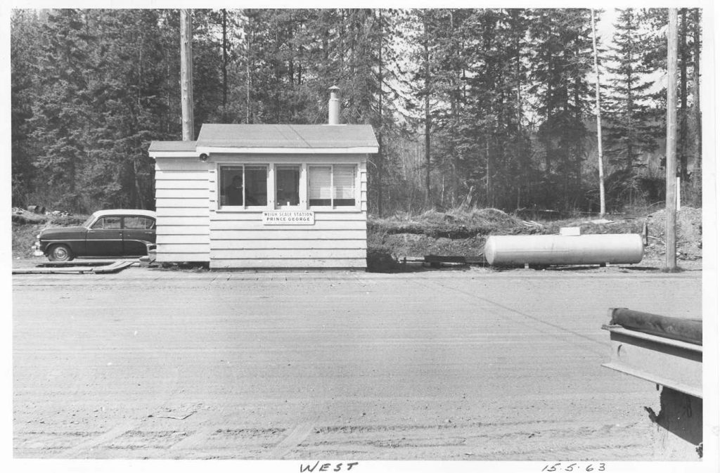 Prince George Weigh Scale Station as it was in 1963