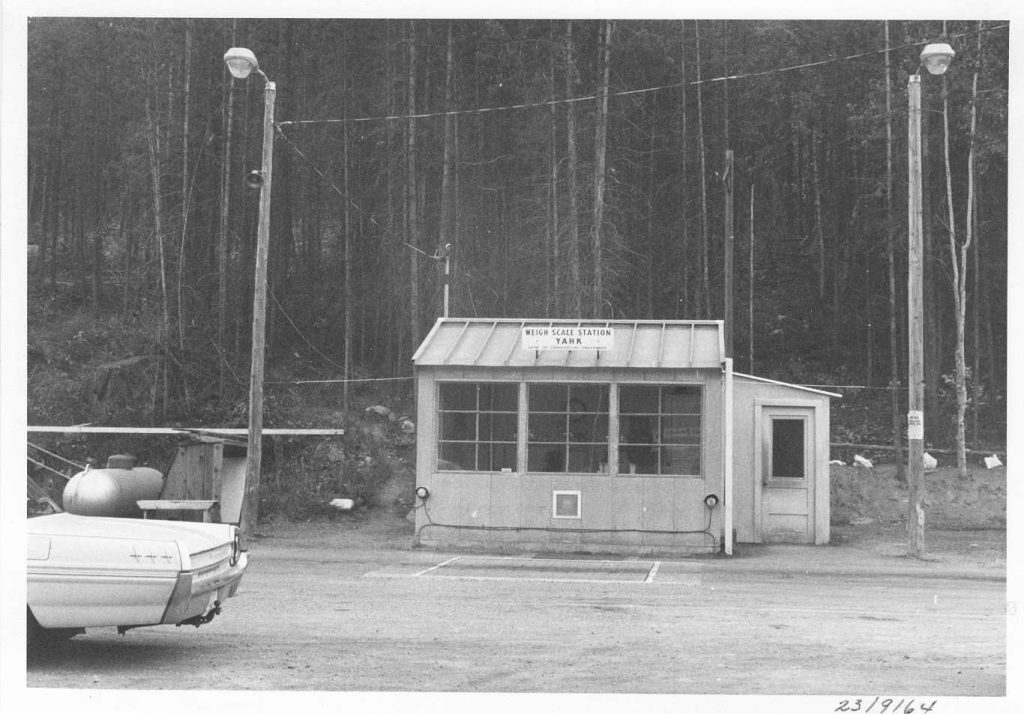 Yahk Weigh Scale Station as it was in 1964