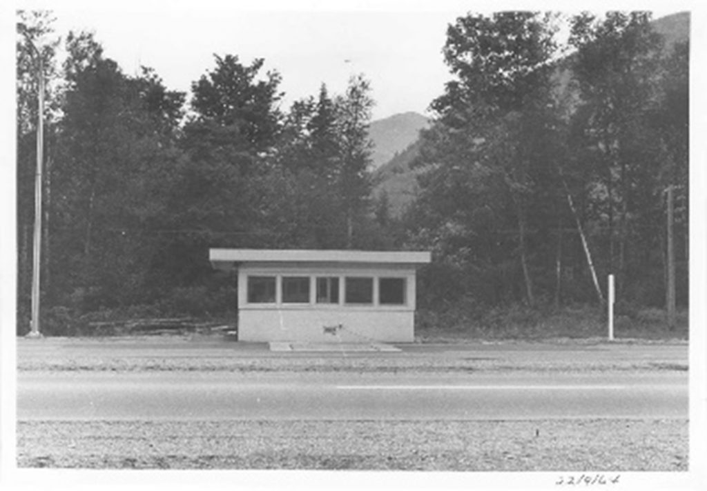 Hunter Creek Weigh Scale Station as it was in 1964