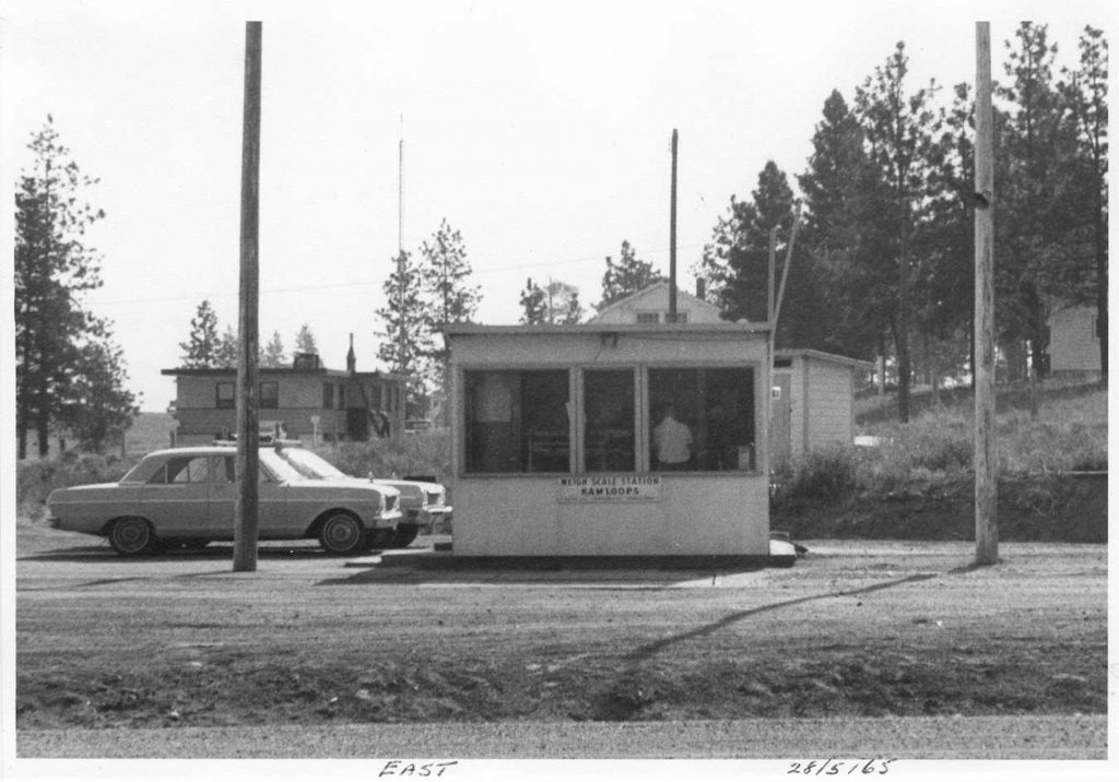 Kamloops Weigh Scale Station as it was in 1965