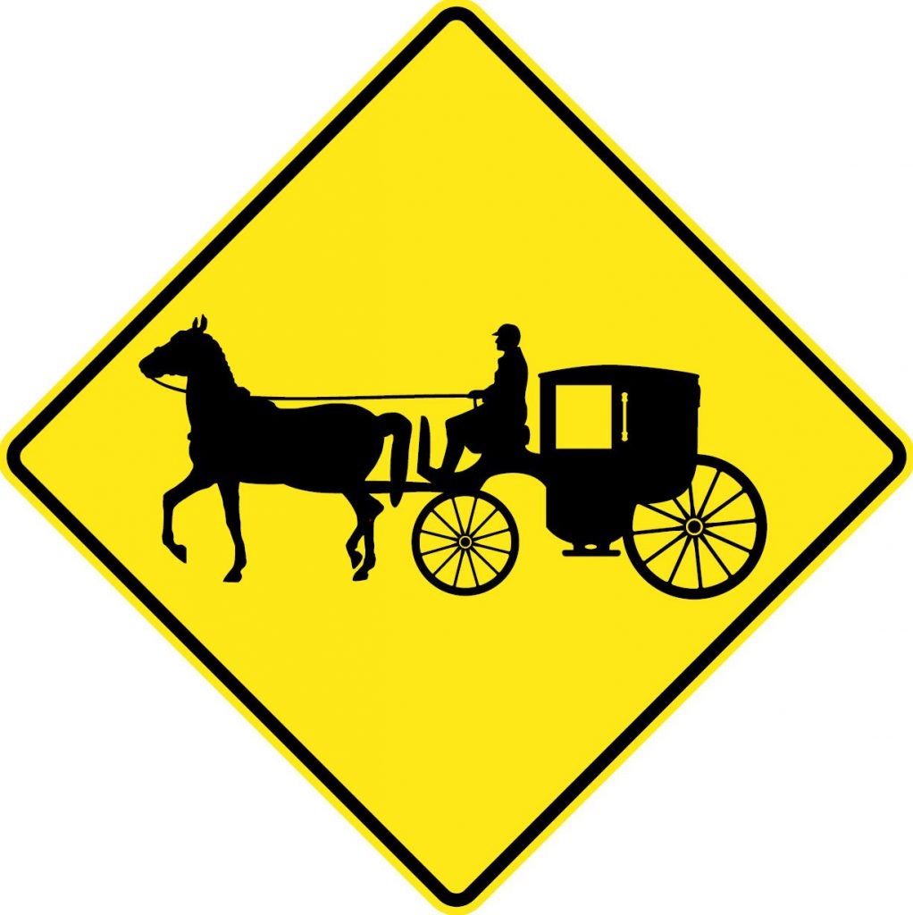 Horse and Carriage traffic sign