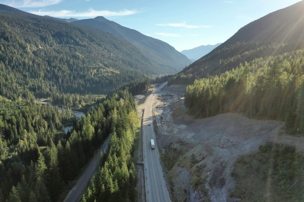 Drone view of the Highway 1.