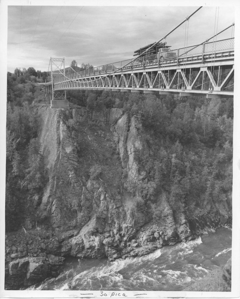 A beautiful, vintage shot of the Hagwilget Bridge, circa 1970s