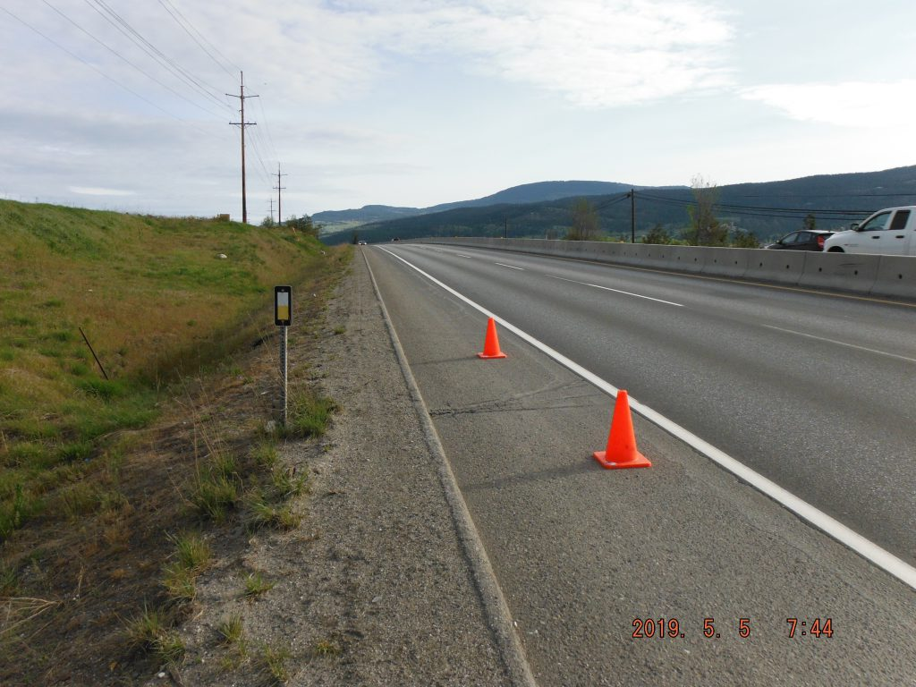 Roadside data stations collect the traffic log information