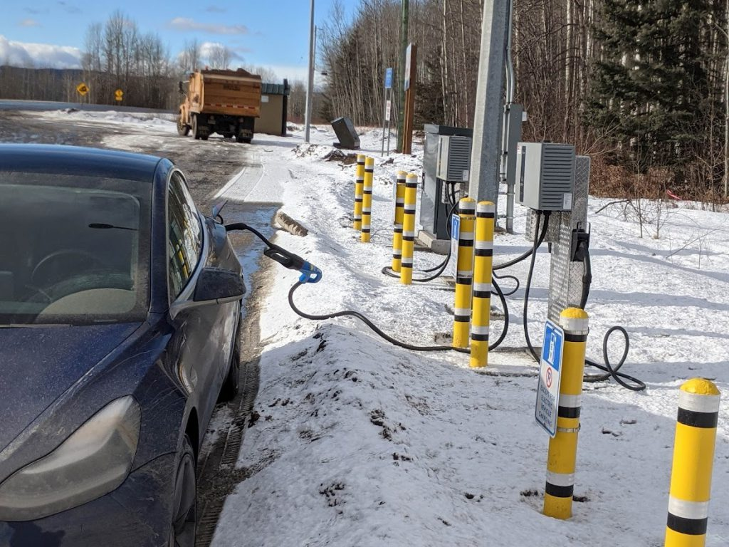 Charging an EV in cold weather conditions