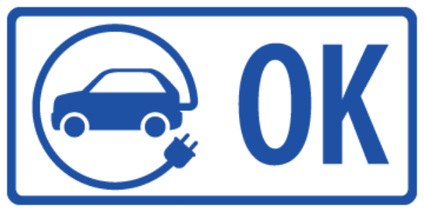 EV decal to allow drivers to travel in HOV lanes